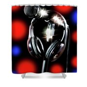Singer Stage Microphone Shower Curtain