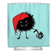 Singing And Dancing Evil Christmas Bug Shower Curtain