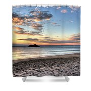 Singing Beach Manchester Ma Sunrise Island Shower Curtain