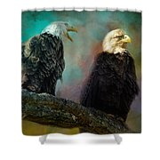 Singing Her A Spring Song Shower Curtain