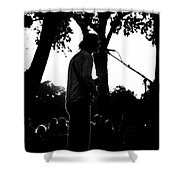 Singing In The Contrast Sunset Light Shower Curtain