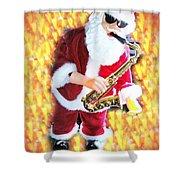 Singing Santa Shower Curtain
