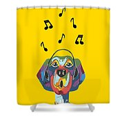 Singing The Blues - Dog Humor Shower Curtain