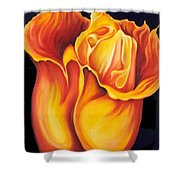 Singing Tulip Shower Curtain