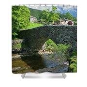 Single Arch Stone Bridge - P4a16018 Shower Curtain