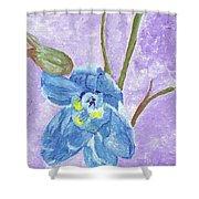 Single Delphinium Flower Shower Curtain