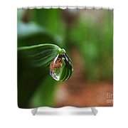Single Drop Of Rain Water  Shower Curtain