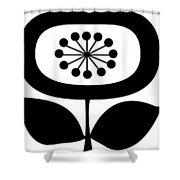 Single Flower 2  Shower Curtain