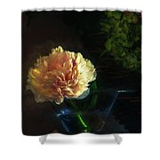 Single Peony Shower Curtain
