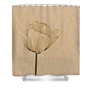 Single Tulip Shower Curtain