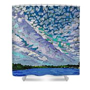 Singleton Altocumulus Morning Shower Curtain