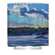 Singleton Solstice Stratocumulus Shower Curtain