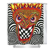 Sinister King Shower Curtain