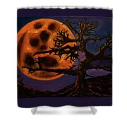 Sinister Moon Shower Curtain
