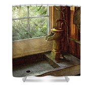 Sink - Water Pump Shower Curtain