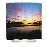 Sink Creek Sunset Shower Curtain