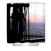 Sinking Sun Shower Curtain