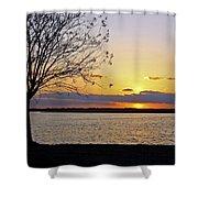 Sinking Sun Shower Curtain