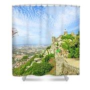 Sintra Castle Aerial Shower Curtain