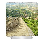 Sintra Moorish Castle Wall Shower Curtain