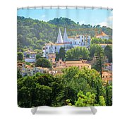 Sintra National Palace Aerial Shower Curtain