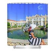 Sintra Travel Woman Shower Curtain