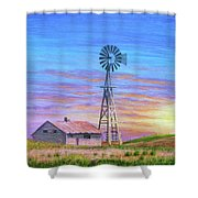 Sioux County Sunrise Shower Curtain