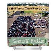 Sioux Falls Rise/shine 2 W/text Shower Curtain