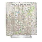 Sioux Falls South Dakota Us City Street Map Shower Curtain