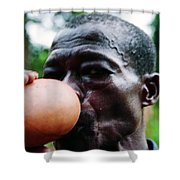 Sipping Palm Wine Shower Curtain