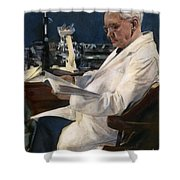 Sir Alexander Fleming Shower Curtain