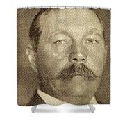 Sir Arthur Conan Doyle, 1859 -1930 Shower Curtain