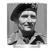 Sir Bernard Law Montgomery  Shower Curtain