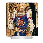 Sir Dinadan Shower Curtain