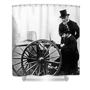 Sir Hiram Stevens Maxim Shower Curtain