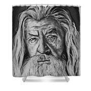 Sir Ian Mckellen As Gandalf The Grey Shower Curtain