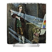 Sir Isaac Newton Shower Curtain