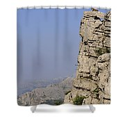 Sir Of The Rocks Shower Curtain