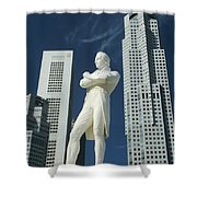 Sir Stamford Raffles Shower Curtain