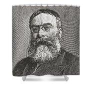 Sir Walter Besant, 1836 -1901. English Shower Curtain