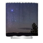 Sirius & Canis Major Rising In New Shower Curtain