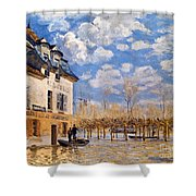 Sisley: Flood, 1876 Shower Curtain