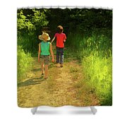 Sister And Brother Shower Curtain
