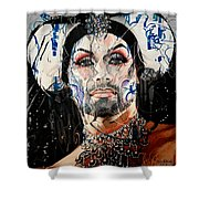 Sister Phyiss Remixed Shower Curtain