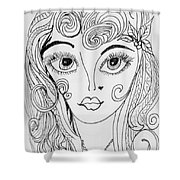 Sisterhood Of The Doodling Pens 4 Shower Curtain