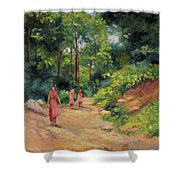 Sisters In Nepal Shower Curtain