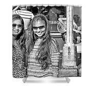 Sisters Out And About Shower Curtain