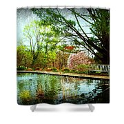 Sit And Ponder - Deep Cut Gardens Shower Curtain