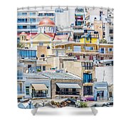 Sitia Town Shower Curtain