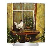 Sittin Chickens Shower Curtain